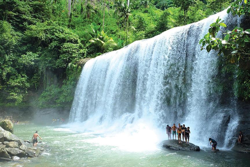 CAMPAWAN CURTAIN FALLS Davao Regions Widest Waterfall