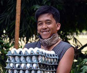 Newly-harvested eggs. Henrylito D. Tacio