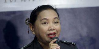 Davao City Jail warden Grace Taculin. Lean Daval Jr