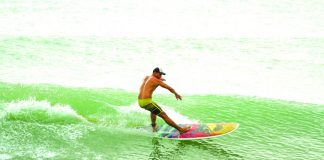 Prior to moving to Siargao, Mac spent the last 5 years surfing different spots in Luzon. Photo by Allen Aligam.