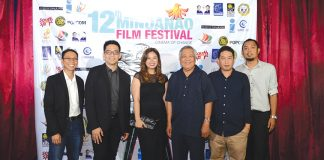 FROM LEFT: NCCA Committee on Cinema member Dax Canedo, FDCP Exec. Director Will Fredo, FDCP Chair Liza Dino, Phil. Information Agency -XI regional director Efren F. Elbanbuena, MFF Festival Director Rudolph Alama and Assistant Festival Director Ivan Tadena.