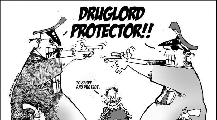 Editorial Cartoon: To serve and protect