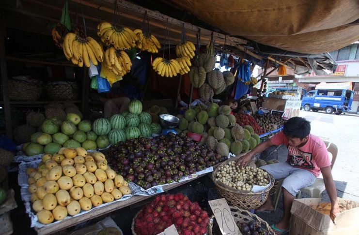 EYE-CATCHER. Round-shaped fruits are starting to flood Davao City's public markets and fruit stalls as Christmas Day and New Year's Day are fast approaching. LEAN DAVAL JR.