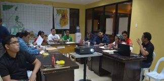 OCD VISIT. The Office of Civil Defense-Reg. XI headed by Reg. Dir. Leoncio Cirunay Jr. and his team visited the Compostela Vallley Disaster Risk Reduction and Management Council (PDRRMC) to conduct rapid damage assessment from the continuous rain affecting several towns in the province. (R. Villocino/IDS ComVal)