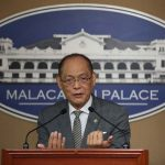 BUDGET PRESS BRIEFING. Budget Secretary Benjamin Diokno provides updates on the 2017 budget of President Rodrigo Roa Duterte's administration during a press briefing at Malacañang yesterday. TOTO LOZANO/Presidential Photo
