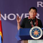 President Rodrigo Roa Duterte explains how the issue of illegal drugs has plagued the country in his speech during the turnover of the 1st Federation of Filipino-Chinese Chamber of Commerce and Industry, Inc. Rehabilitation Center at the Island Garden City of Samal on February 24, 2017. ROBINSON NIÑAL JR./Presidential Photo