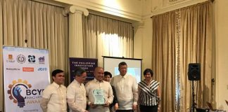 AWARD. Compostela Valley Gov. Jayvee Tyron Uy received the award as one of the 7 finalists during the first Benita and Catalino Yap Foundation (BCYF) innovation awards on February 20, 2017 in Malacañang Palace. The province of Compostela Valley secured 2nd place in Government Service Category positioning rice fortification as their main innovation. (ComVal PIO Photo)