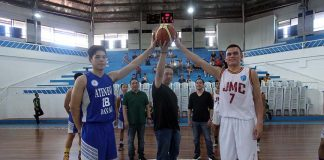 CEREMONIAL JUMP. SBP 11 regional head Glenn Escandor presides over the ceremonial ball rites. LEAN DAVAL JR.