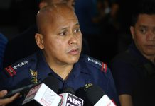 "Philippine National Police chief Director General Ronald ""Bato"" Dela Rosa."