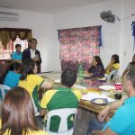 """BARANGAY VISIT. Vice Governor Elmer """"Dok Vice"""" de Peralta, MD, discusses the importance of barangay legislation to capacitate the barangay officials during the recent Evaluation and Observation of Barangay Session at Barangay Nagpan, Malungon, Sarangani province. (Quenny D. Dandan/VICE GOVERNOR'S OFFICE)"""