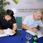 MOA SIGNING. FTC Group of Companies president and CEO Ian Y. Cruz, Altus managing director Pavan Gidwani and Fund Director Jason Chen sign the memorandum of agreement between FTC Group of Companies and Altus Hospitality South Inc.LEAN DAVAL JR.