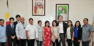 City Administrator Atty. Zuleika T. Lopez and heads of offices welcome a team from Jica at City Hall. The team proposed to craft a masterplan and feasibility study on flood mitigation in Davao, focusing on the Davao River. CIO