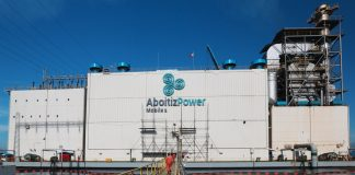 CERTIFIED. An external audit found that the 100 Megawatt (MW) barge-mounted floating power plant of AboitizPower subsidiary Therma Marine, Inc. (TMI) located in Maco, Compostella Valley conforms with international standards on occupational health and safety and environmental management. TMI Mobile 1 is one of the most efficient peaking power plants in Mindanao providing reliable power whenever needed by the customers. (Aboitiz Photo)