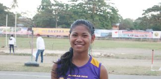 UNSATISFIED GOLD MEDALIST. Palarong Pambansa star Mea Gey Ninura.