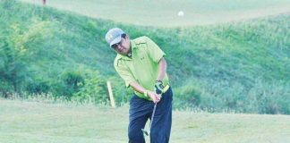 POMELO TEE Veteran golfer Ting Castillo hits from the fairways during last year's Pomelo Tee. BOY LIM