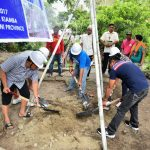PROJECT CONNECTS SEASIDE VILLAGES. KIAMBA, Sarangani (March 9, 2017) – Photo shows the recent ground breaking ceremony of the double barrel reinforced concrete box culvert in Barangay Lomuyon, Kiamba, Sarangani Province, a joint project between the Lomuyon Barangay Council, BSPMC, and Kalahi-CIDSS. Present in the ceremony were members of Lomuyon Barangay Council and BSPMC members. Once completed, the new bridge will connect vital routes along the barangay seaside. (Avery Rotciv Valois Camposano/KIAMBA INFORMATION OFFICE)