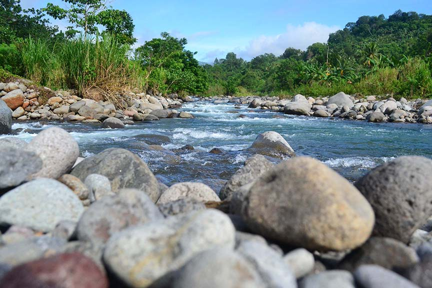 WATER SOURCE. Photo shows the Tamugan River in Barangay Tawantawan in Davao City that will provide 300 million liters of water per day to the Davao City Bulk Water Supply Project of the DCWD that will be undertaken by Apo Agua Infrastructura, Inc. (Photo by Apo Agua)