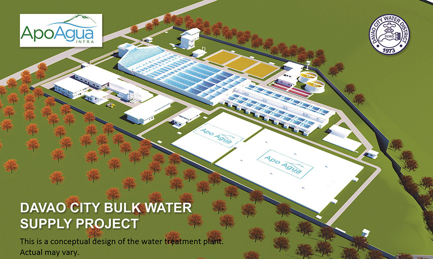 PLANT PERSPECTIVE. Photo shows the perspective of the water treatment that will be constructed by the Apo Agua Infrastructura, Inc. (Photo by Apo Agua)