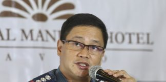 NEW DCPO HEAD. Senior Superintendent Valeriano De Leon interacts with reporters during a news conference in this undated photo. De Leon formally assumed the helm as acting Davao City Police Office (DCPO) director from Senior Superintendent Michael John Dubria in a ceremony in Camp Catitipan on Friday afternoon. LEAN DAVAL JR.