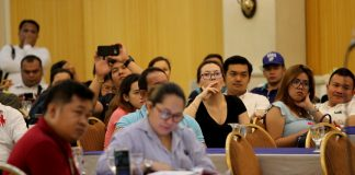 INFO DRIVE. Party organizers, bar and club owners and managers listen attentively to the presentations of representatives from various agencies of the city government of Davao during an information drive held at Grand Men Seng Hotel on Tuesday. LEAN DAVAL JR.