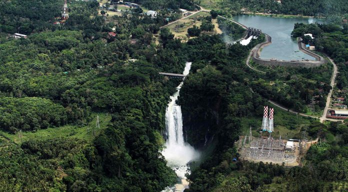 An aerial view of a hydropower plant along Agus River, near scenic Maria Cristina Falls in Iligan City. Mindanews File Photo