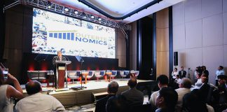 DUTERTENOMICS FORUM. Finance Secretary Carlos Dominguez III, in his keynote speech, highlighted the need to implement a comprehensive tax reform program and to boost infrastructure spending to spur the growth of the country's economy during the DuterteNomics forum yesterday. PRESIDENTIAL PHOTO
