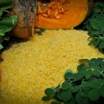 Golden rice with other vitamin A-rich foods (Courtesy of IRRI)