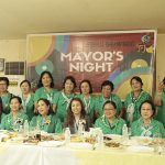 Hon. Avegayle Ortiz-Omaiza with GSP National President Susan Locsin, Regional Chairperson Mrs. Norma A. Sur, and National Executive Director Mrs. Ma. Dolores Santiago and the rest of the National Board Members and 32nd Encampment Staff during the Mayor's Night of the 32nd Eastern Mindanao Regional Encampment held on April 18, 2017. Photo by Joie Maine A. Gelmo