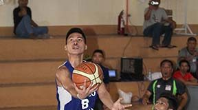 INSPIRED GAME. Christian Bacalso led Ateneo with 19 points. LEAN DAVAL JR.