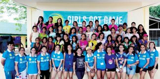MINTAL CAMP. The GGG Philippines team with 40 participants in their first camp in Barangay Mintal