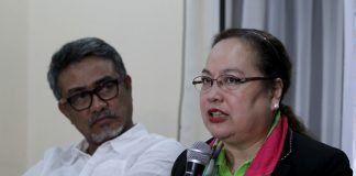 UPDATES. Department of Health secretary Dr. Paulyn Jean Rosell-Ubial provides updates on the Philippine Health Agenda 2016-2022 which includes DOH 30 – thirty things to do for City Health Office (CHO)/ Municipal Health Office while DOH DOH assistant secretary for Mindanao Dr. Abdullah Dumama Jr. listens during a news conference for the two-day CHO/MHO summit at The Royal Mandaya Hotel on Tuesday. LEAN DAVAL JR.