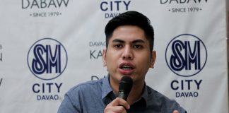 SPECIAL OFFERING. SM Supermalls group brand manager Aron Dalaza provides the details of the mall's upcoming three-day sale slated on April 28 to 30 during the Kapehan sa Dabaw at the Annex of SM City Davao on Monday. LEAN DAVAL JR.