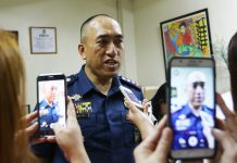 FROM ABRA TO DAVAO. Senior Supt. Alexander Tagum, the acting Davao City Police Office chief, speaks to reporters inside his office on Monday. Tagum, who was previously assigned as provincial commander of Abra, is expected to formally assume his post in a turn over ceremony at DCPO grounds on Tuesday. CONTRIBUTED PHOTO