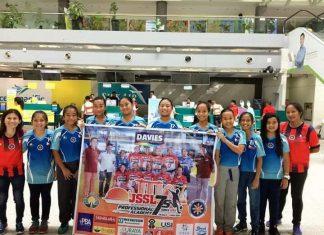 OFF TO SINGAPORE. The Davao U-12 girls squad during their sendoff to Singapore.