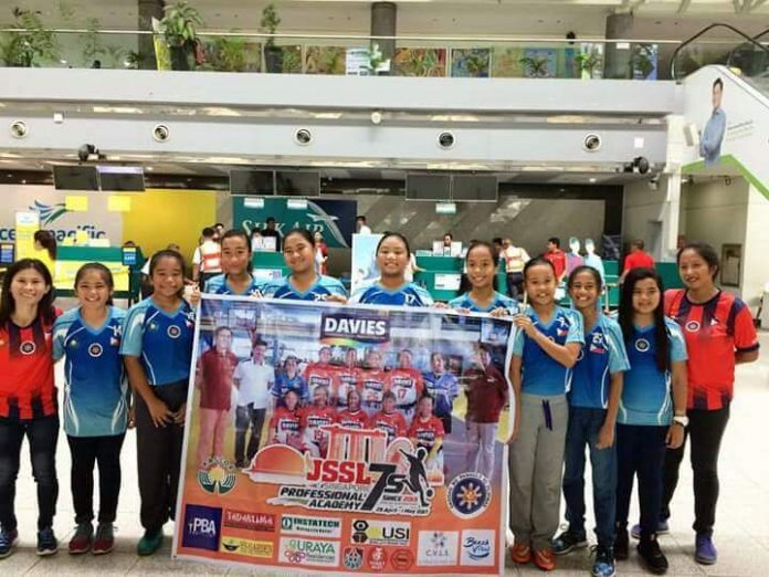 OFF TO SINGAPORE. The Davao U-12 girls squad during their sendoff to Singapore.