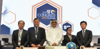 FIFA COUNCIL. The Philippines' Mariano Araneta (ssecond from left) was elected to the powerful FIFA Asia Council.