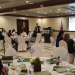 BANKERS, DEVELOPERS BRIEFED. Frank Lloyd C. Gonzaga, manager III of business development and accounts evaluation department of the Home Guaranty Corporation, answered questions from some 60 executives of banks and real estate developers in the Davao Region on the various loan guaranty programs of the six-decade old government –owned and –operated corporation (GOCC) during a financing workshop at the Royal Mandaya Hotel last Tuesday. HGC's corporate life has been extended by another 50 years and its capitalization increased to P50 billion under the HGC Act of 2000. ANTONIO M. AJERO