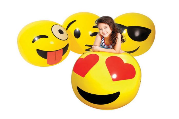 Dive in with your favorite emojis with this fun inflatable from Toy Kingdom