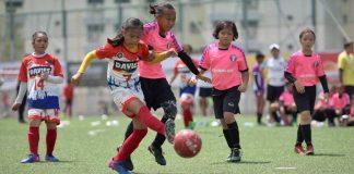 Jasmin Agustin (19) scored a goal for Davao-Philippines.