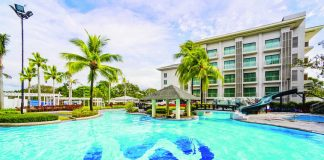 Widus Hotel and Casino's freeform lagoon-type swimming pool
