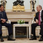 President Rodrigo Roa Duterte meets with Russian Federation President Vladimir Putin at the Kremlin in Moscow on May 24, 2017 prior to his return to the Philippines. President Duterte opted to skip his scheduled engagements and cut his official visit to the Russian Federation short as he decided to fly back to the Philippines after declaring a state of Martial Law in Mindanao due to the terror crisis in Marawi City. PRESIDENTIAL PHOTO