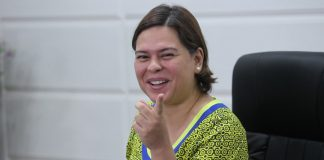 DETERMINED. Davao City Mayor Sara Duterte-Carpio gestures during a news conference in this undated photo. The mayor said on Thursday she will continue on its mandate to conduct peace talks with the New People's Army despite President Duterte's declaration that there will be no more peace talks with theNPA and its organized fronts, the Communist Party of the Philippines and the National Democratic Front of the Philippines. LEAN DAVAL JR.