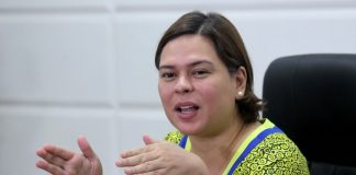 CONDITIONAL. Davao City Mayor Sara Duterte-Carpio says that her offer to conduct localized peacetalks with the New People's Army (NPA) still remains but the communist rebels should lay down firearms and stop their offenses. The mayor made the statement during a news conference at City Hall on Tuesday. LEAN DAVAL JR.