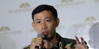 UNFOUNDED. Captain Rhyan Batchar, spokesperson of Philippine Army's 10th ID, says they are incensed of Anakpawis representative Ariel Casilao who accused the AFP of being responsible for several killings and of demanding the withdrawal of troops in Compostela Valley Province. LEAN DAVAL JR.