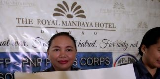 STATE OF THE ART FACILITY. Davao City Jail warden Jail Superintendent Grace Taculin holds the blueprint of the proposed new Davao City Jail in Wangan, Calinan which can house up to 5,000 detainees during the AFP-PNP Press Corps media forum at The Royal Mandaya Hotel on Wednesday. LEAN DAVAL JR.
