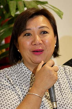 ETHNICA ALAMPAT DABAW. Davao City Tourism Office head Gene Rose Tecson discusses the upcoming culminating activity of Visit Davao Fun Sale, the biggest tourism event in Davao region, on May 27 such as the staging of Ethnica Alampat Dabaw Jam and the Mindanao Pet Congress. Tecson graced this week's edition of Wednesdays @ Habi at Kape at Abreeza Mall. LEAN DAVAL JR.