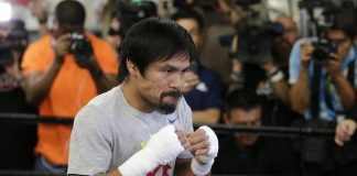 MANNY PACQUIAO (in file photo). Who's afraid of Martial Law? Pacquiao's camp moves to war-torn Mindanao