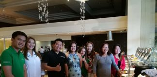 TOP SELLERS BANQUET. Escandor Development Corporation project head Gerald Kent Garces with the top performing sellers and realtors at the Kamayo Cafe of The Royal Mandaya Hotel for the May Top Sellers Banquet.