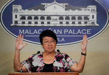 Department of Social Welfare and Development (DSWD) Secretary Judy Taguiwalo announces during a press briefing in Malacañang that their agency has already spent around P294-million worth of assistance to the internally displaced families from Marawi City. KING RODRIGUEZ/PRESIDENTIAL PHOTO