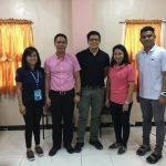 COORDINATION MEETING. Philippine Sports Commission (PSC) Commissioner Charles Raymond A. Maxey, second from left, and his staff Karlo Paolo Pates and Zennie Rollon pose with Davao City's Sports Development Division of the City Mayor's Office (SDD-CMO) officer-in-charge Mikey Aportadera and his staff Cindy Cruz after a coordination meeting held Thursday on the upcoming BIMPNT-Eaga 10K Run set sometime in September or October. KARLO PATES/FACEBOOK